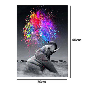 Elephant Drill Diamond Painting 30X40CM(Canvas)