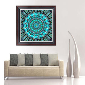 Flower Round Full Drill Diamond Painting 30X30CM(Canvas)