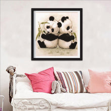 Load image into Gallery viewer, Lovely Panda Round Drill Diamond Painting 30X30CM(Canvas)