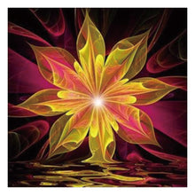Load image into Gallery viewer, Abstract Flower Round Drill Diamond Painting 30X30CM(Canvas)