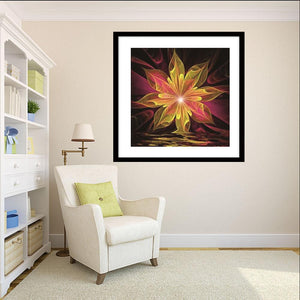 Abstract Flower Round Drill Diamond Painting 30X30CM(Canvas)