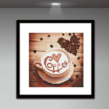 Load image into Gallery viewer, Coffee Round Full Drill Diamond Painting 30X30CM(Canvas)