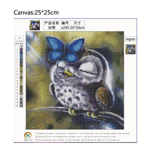 Animal Square Full Drill Diamond Painting 25X25CM(Canvas)