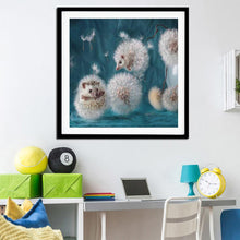 Load image into Gallery viewer, Dandelion Hedgehog Round Full Drill Diamond Painting 30X30CM(Canvas)