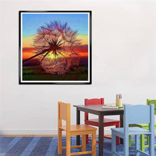 Load image into Gallery viewer, Dandelion Round Full Drill Diamond Painting 30X30CM(Canvas)