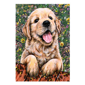 Dog Square Full Drill Diamond Painting 30X40CM(Canvas)