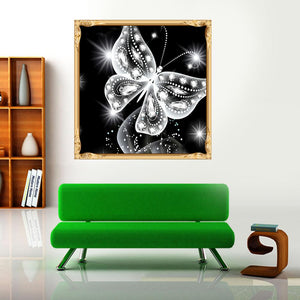 Butterfly Round Drill Diamond Painting 30X30CM(Canvas)
