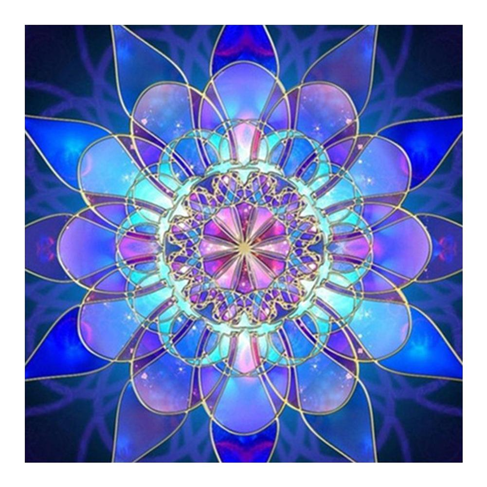 Dreamy Flower Paint Round Full Drill Diamond Painting 30X30CM(Canvas)