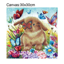 Load image into Gallery viewer, Rabbit Square Drill Diamond Painting 30X30CM(Canvas)
