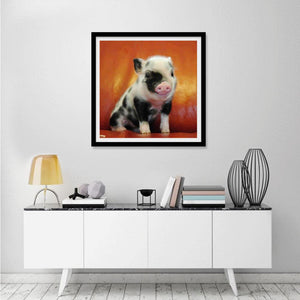 Pig Square Full Drill Diamond Painting 30X30CM(Canvas)