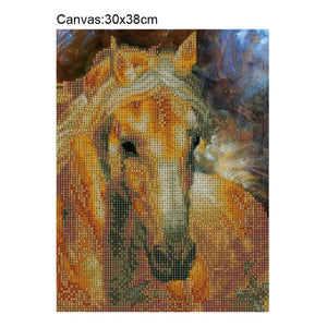 Horse Square Drill Diamond Painting 30X38CM(Canvas)