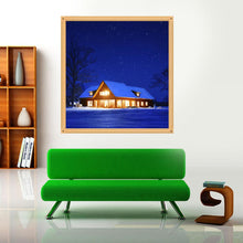Load image into Gallery viewer, Night House Round Drill Diamond Painting 30X30CM(Canvas)