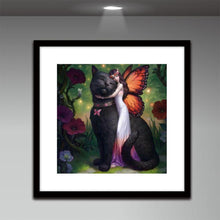 Load image into Gallery viewer, Beauty Cat Round Drill Diamond Painting 30X30CM(Canvas)
