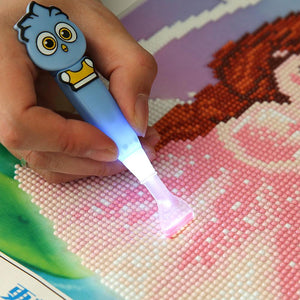 5D DIY Diamond Painting Craft Needlework Tool Point Drill Pen with Light(B)