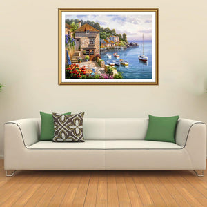 Scenery Round Full Drill Diamond Painting 40X30CM(Canvas)