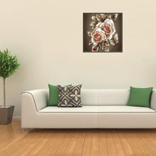 Load image into Gallery viewer, Retro Flowers Round Full Drill Diamond Painting 35X35CM(Canvas)