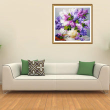 Load image into Gallery viewer, Lavender Vase Round Full Drill Diamond Painting 30X30CM(Canvas)