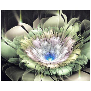 Dreamy Flower Round Full Drill Diamond Painting 30X25CM(Canvas)