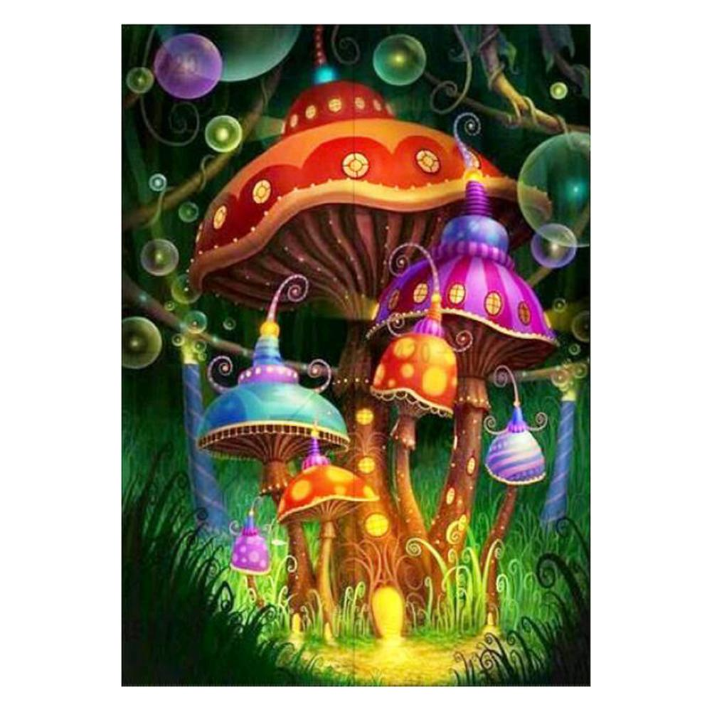 Mushroom Decorate Round Drill Diamond Painting 30X40CM(Canvas)