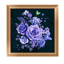 Load image into Gallery viewer, Rose Purple Round Drill Diamond Painting 30X30CM(Canvas)