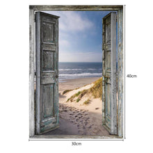 Load image into Gallery viewer, Seaside Doors Round Part Drill Diamond Painting 40X30CM(Canvas)