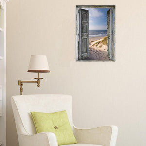 Seaside Doors Round Part Drill Diamond Painting 40X30CM(Canvas)