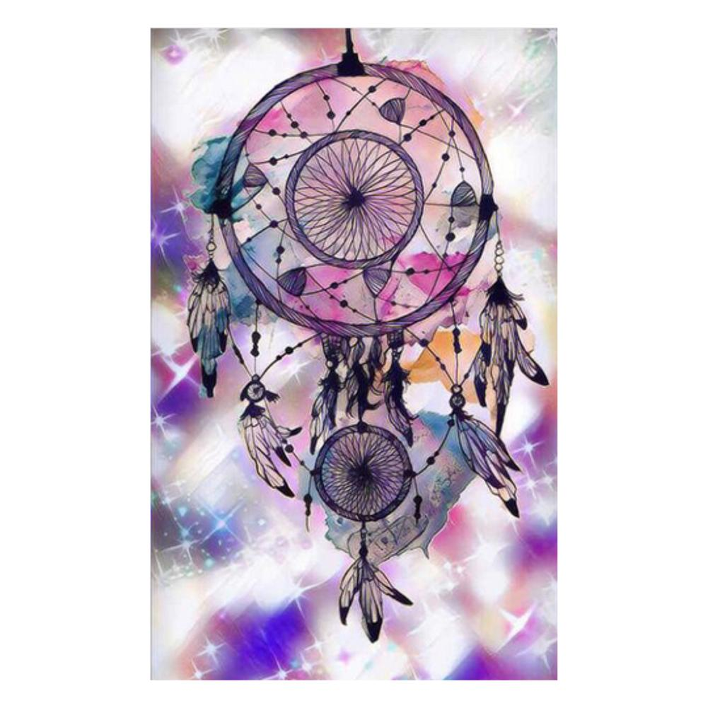 Fantasy Dream Catcher Round Drill Diamond Painting 25X35CM(Canvas)