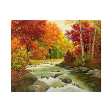 Load image into Gallery viewer, Four Season Scenery Round Full Drill Diamond Painting 30X25CM(Canvas)