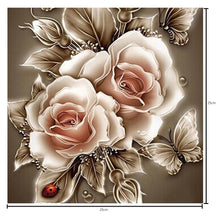 Load image into Gallery viewer, Rose Brown Round Drill Diamond Painting 25X25CM(Canvas)
