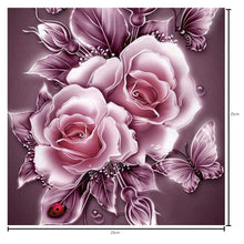 Load image into Gallery viewer, Rose Pink Round Drill Diamond Painting 25X25CM(Canvas)