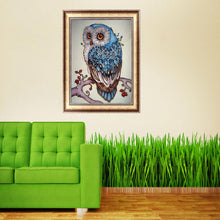 Load image into Gallery viewer, Bird Animal Round Part Drill Diamond Painting 20X30CM(Canvas)