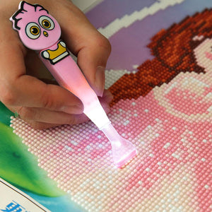 Multi-use 5D DIY Diamond Painting Cross Stitch Luminous Point Drill Pen(B)