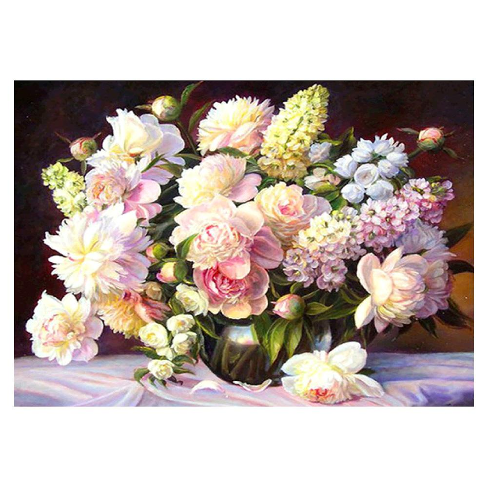 Warm Flowers Square Full Drill Diamond Painting 40X30CM(Canvas)