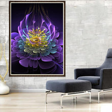 Load image into Gallery viewer, Fluorescent Flower Round Full Drill Diamond Painting 30X40CM(Canvas)