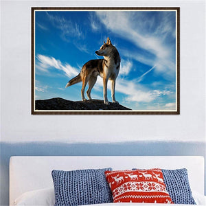 Wolf Round Full Drill Diamond Painting 40X30CM(Canvas)