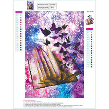 Load image into Gallery viewer, Coloured Dreamy Butterflies Book Round Part Drill Diamond Painting 40X30CM(Canvas)