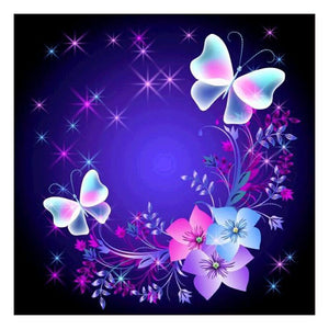 Butterfly Art Round Drill Diamond Painting 30X30CM(Canvas)