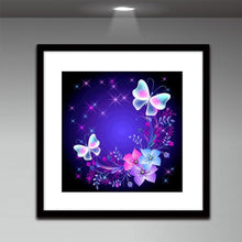 Load image into Gallery viewer, Butterfly Art Round Drill Diamond Painting 30X30CM(Canvas)