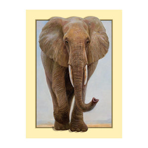 Elephant Round Full Drill Diamond Painting 35X45CM(Canvas)