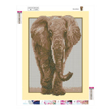 Load image into Gallery viewer, Elephant Round Full Drill Diamond Painting 35X45CM(Canvas)