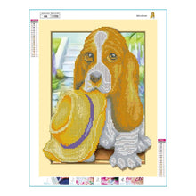 Load image into Gallery viewer, Animal Dog Round Drill Diamond Painting 35X45CM(Canvas)