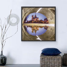Load image into Gallery viewer, Castle Round Part Drill Diamond Painting 30X30CM(Canvas)