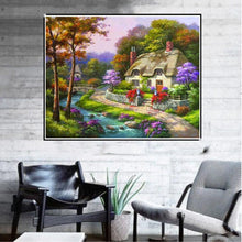 Load image into Gallery viewer, Scenery Round Full Drill Diamond Painting 30X25CM(Canvas)