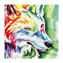 Load image into Gallery viewer, Wolf Round Drill Diamond Painting 25X25CM(Canvas)