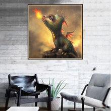 Load image into Gallery viewer, Dinosaur Round Part Drill Diamond Painting 30X30CM(Canvas)