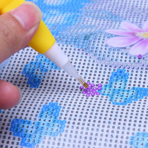 5D Diamond Painting Cross Stitch 1 Head Point Drill Pen with Light(Tiger)
