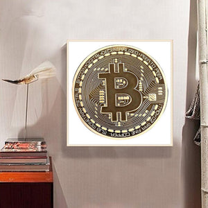 Coin Square Drill Diamond Painting 30X30CM(Canvas)