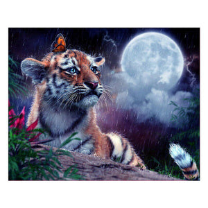 Tiger Square Drill Diamond Painting 30X36CM(Canvas)