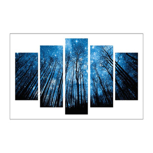 Forest 5-pictures Round Full Drill Diamond Painting 95X45CM(Canvas)