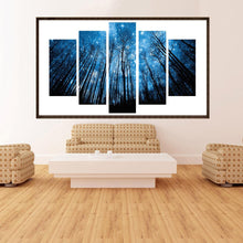 Load image into Gallery viewer, Forest 5-pictures Round Full Drill Diamond Painting 95X45CM(Canvas)